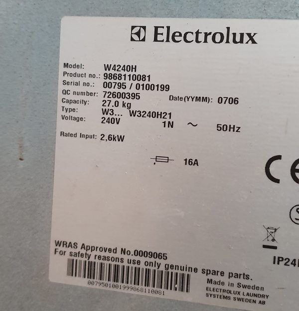 Electrolux Machine plate_1