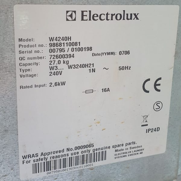 Electrolux Machine plate 2